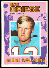 1971 FB TOPPS INSERT POSTER PIN UPS #7 BOB GRIESE MIAMI DOLPHINS