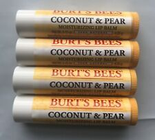 Burt's Bees Lip Balm Coconut and Pear w/ Vitamin E  0.15 oz (4 Pack)