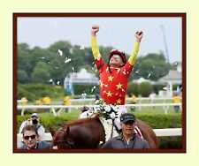 Mike Smith on JUSTIFY Triple Crown Belmont Stakes 11x14 Matted 8X10 Photo print