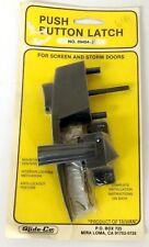 Slide-Co 09454-B Screen and Storm Doors Push Button Latch - Black