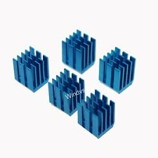 10pcs 12mm 9x9x12mm Adhesive Blue Aluminum Heat Sink for CPU Memory Chip IC