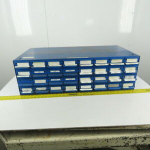 """Equipto 32 Drawer Industrial Metal Small Parts Bin Cabinet 34""""x17""""x10-1/2"""""""