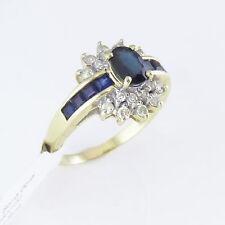 NYJEWEL 14k Gold Brand New 2.5ct Sapphire Diamond Cocktail Ring Great Gift