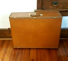 Vintage 1950s Samsonite Rare XL Leather Suitcase