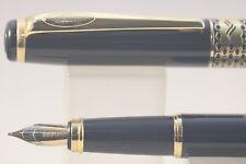 Baoer No. 68 Lacquered Black Medium Fountain Pen with Gold Trim