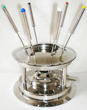 Estia Gourmet 2 Quart Fondue Accessory Set 18/10 Stainless Steel Forks Rack New