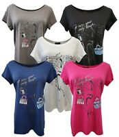 Damen T-Shirt Kurzarmshirt Blusenshirt Shirt Top Bluse Print/Color Mix SALE 005