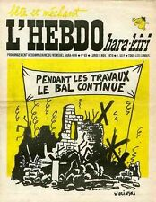 """""""L'HEBDO HARA-KIRI N°93 9/11/1970"""" WOLINSKI: Pendant les travaux le BAL continue"""