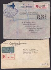 CHINA 1940-48 AIRMAIL REGISTERED 4 ITEMS...MISSING STAMPS