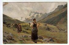 Abendfriede - Illustrata da Schmidt - Primi del '900 - NON VIAGGIATA