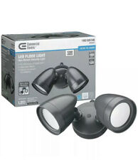 COMMERCIAL ELECTRIC 2 Head Dark Bronze Outdoor LED Security Light Dusk to Dawn