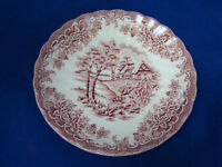 1 Churchill The Brook Chelsea Pink Red England  Coffee Tea Saucer Plate Cottage