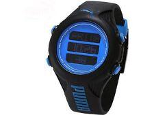 Puma PU910781001 Black Resin Quartz Watch with Blue Dial