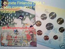 2004 Finlandia Moomin 8 monete 3,88 EURO finlande finnland suomi finland 2 € EU