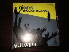 "AGUAVIVA - GIANNI 7"" SINGLE FOLK - PROM0 - SAN REMO"