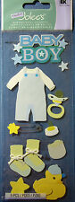 NEW 9 pc BABY BOY Booties Duckie Pacifier Overalls Bottle  JOLEE'S 3D Stickers