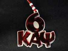 Kappa Alpha Psi Red Line Number and Letters Teekee Tiki # 6