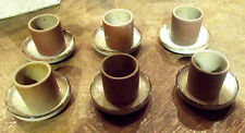 6 ancienne tasse à café + sous tasse grès Bretagne Crêpe Sarrasin