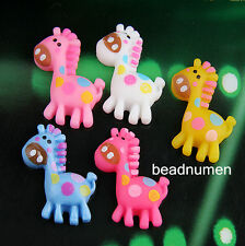 12pcs mix color cartoon horse Resin flatback Scrapbooking For DIY phone /craft