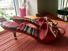 Womens Coccinelle Red Heeled Sandals Size 37
