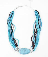 Kenneth Cole New York 'Semi Precious Bead' Turquoise Teal Bead Collar Necklace