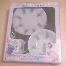 Reutter Porcelain Beatrix Potter Peter Rabbit Breakfast Set 3 pieces New
