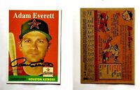 Adam Everett Signed 2007 Topps Heritage #125 Card Houston Astros Auto Autograph