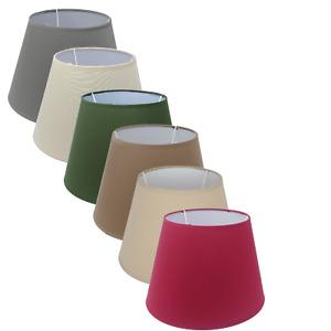 Lampenschirm für E14/E27 Leinenoptik Stoffschirm Grau rund H 16 cm versch Farben