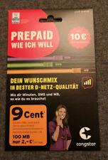 Congstar Prepaid wie ich will D1 Telekom-Netz je 10 EUR Startguthaben NEU OVP