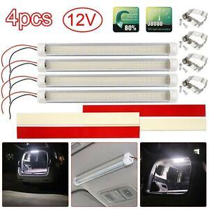 4* 72LED 12V Interior Lights Strip Bar Car Van Bus Caravan 12VOLT ON/OFF Switch