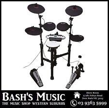 Carlsbro CSD130BK - 5 Piece Starter Beginner Electronic Drum Kit Compact Drumkit