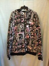 Mens Adidas Graphic Full  Zipper Hooded  Jacket Size 2XL RARE