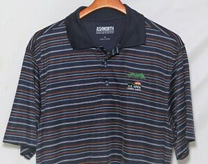 """Ashworth """"2008 U.S. OPEN - TORREY PINES"""" + Logo Embroidered Polo Shirt_Size L"""