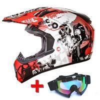 GS Nevada Motocross Helm und MX1 Brille Sonnenblende ECE Enduro Quad Cross ATO