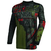 O'Neal 2021 Men's Element Racewear Ride Jersey Black/Green All Sizes