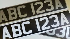 UV Printed One-Piece Classic Car Mandatory Font Stick On Number Plate Sticker