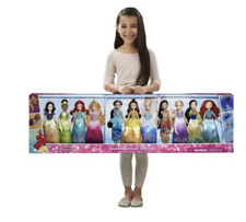 Disney Princess Doll Complete Collection 11 Pack Set Dresses Beauty Ariel Belle
