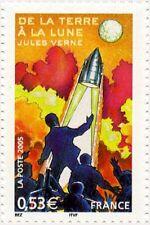 """timbre France neuf 2005 """"jules verne de la terre à la lune"""" y&t 3790"""