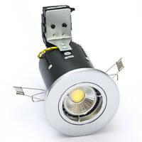 FIRE RATED 5 WATT COB LED DOWNLIGHT 240V MAINS GU10 5W DIMMABLE
