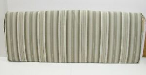 BH&G Outdoor Patio Bench Cushion ~ Fog Stripe Taupe Gray ~ 17 x 46 x 3 **NEW**