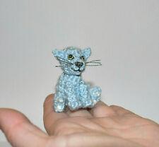 Dollhouse Miniature Cat Handmade Toy Pet Stuffed Animal Cat Lover Gift Idea