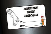 5 x Aufkleber Zahnriemen wurde gewechselt KM Datum Inspektion Service Sticker