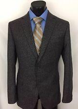 Z Zegna Ermenegildo Mens Sport Coat Blazer Houndstooth Blue Brown 40 R 40R A9