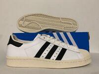 Adidas Originals Superstar 80's Retro Athletic Shoes White Black Chalk [G61070]