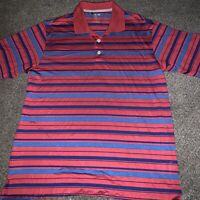 Adidas ClimaCool Large Polo Shirt Golf Red Blue NWOT Never Worn Free Shipping