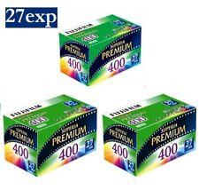 3 Rolls - Fuji Fujifilm Premium SUPERIA 400 ISO Color 35mm 135 Film (27exp)