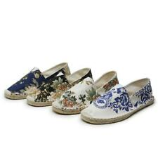 Men Espadrilles Loafers Fishmen Shoes Linen Comfort Casual Printed Flats Slip On