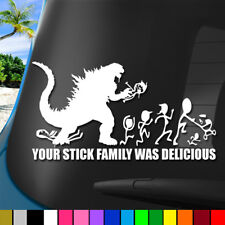"Nobody Cares Stick Family Godzilla Sticker Decal Funny Car Truck Drift JDM 8"""