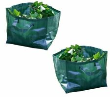 2x 60L Heavy Duty Garden Waste Bags Leaves Weed Refuse Tote