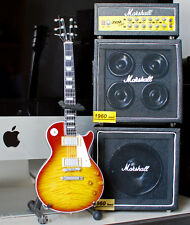 Miniature Guitar Jimmy Page Led Zeppelin & Full Stack Marsh Vintage Display Amp